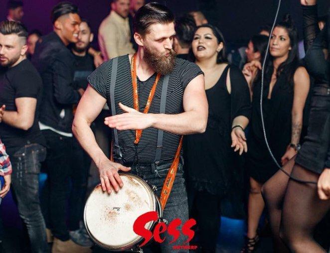 live percussie drum act philippe galand